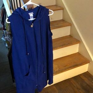 Dotti blue hooded coverup